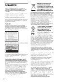 Sony UHP-H1 - UHP-H1 Consignes d'utilisation Hongrois - Page 2