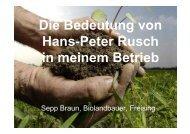 Braun Bedeutung von Rusch im Betrieb - Bioland