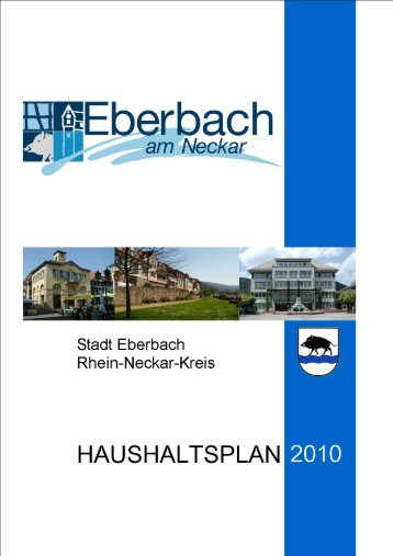 Haushaltsplan 2010 - Stadt Eberbach