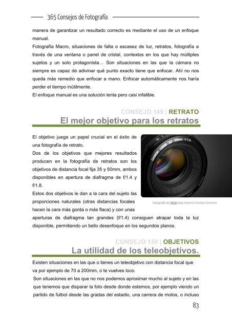 365 consejos de fotografia