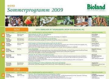 nord Sommerprogramm 2009 - Bioland