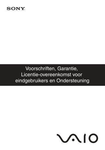 Sony VGN-FW41ZJ - VGN-FW41ZJ Documents de garantie Néerlandais