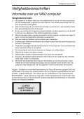 Sony VGN-FW41ZJ - VGN-FW41ZJ Documents de garantie Néerlandais - Page 5