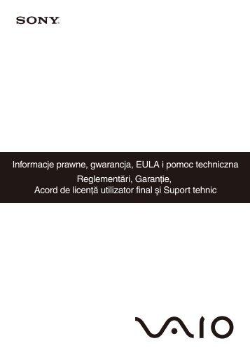Sony VGN-FW41ZJ - VGN-FW41ZJ Documents de garantie Roumain