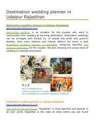 Destination wedding planner in Udaipur Rajasthan