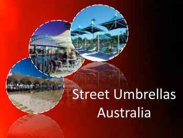 Architectural Umbrellas at Street Umbrellas Australia