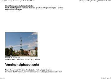 Vereine (alphabetisch) - Stadt Mainburg