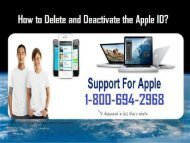Call To 1-800-694-2968 Delete An Apple ID |Apple ID Support