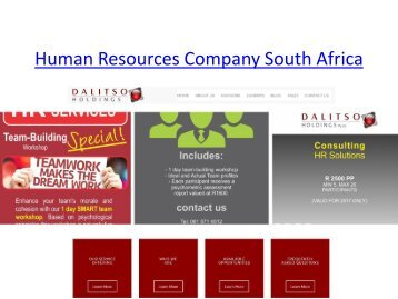 Human Resources Company South Africa
