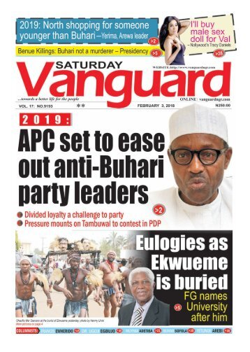 03022018 - 2019: APC set to ease out anti-Buhari leaders