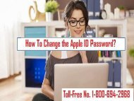 How To Change Apple ID Password? 1-800-694-2968 Toll-Free