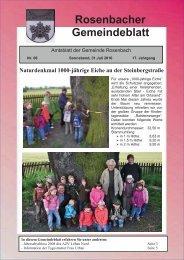 Rosenbacher Gemeindeblatt