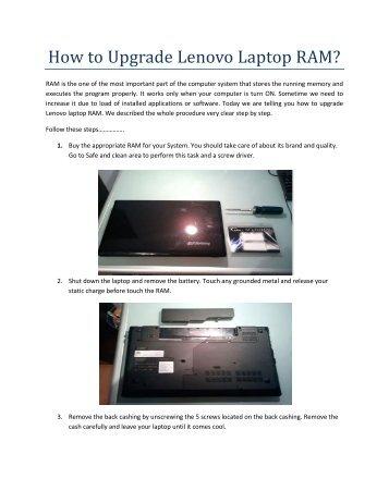 How Upgrade Lenovo Laptop RAM?