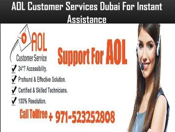 AOL Customer Service Number Dubai +971-523252808 For Help
