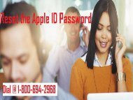 Call 1-800-694-2968 To Reset Apple ID Password | Recover Apple ID