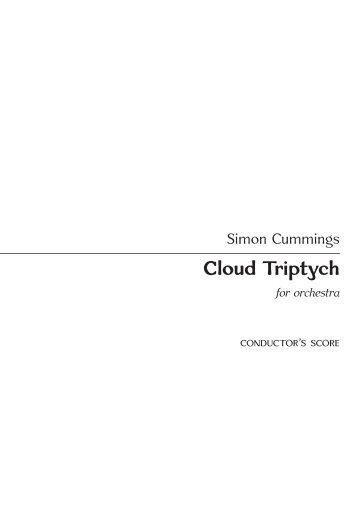 Simon Cummings - Cloud Triptych (Conductor's Score)