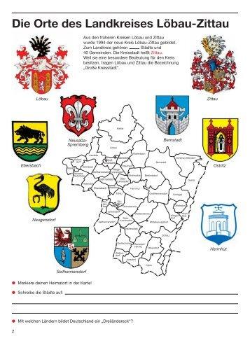 Die Orte des Landkreises Löbau-Zittau
