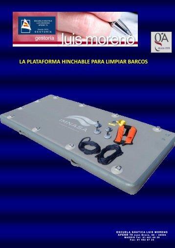 LA PLATAFORMA HINCHABLE PARA LIMPIAR BARCOS - Nauta360