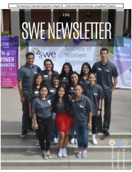 SWE Newsletter Fall 2017 Issue