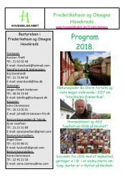 Program 2018 Frederikshavn og Omegns Havekreds --