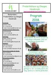 Program 2018 Frederikshavn og Omegns Havekreds --