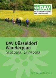 DAV Düsseldorf Wanderplan 1HJ 2018