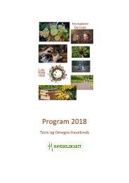 Program 2018    -    Tarm og Omegn Kreds
