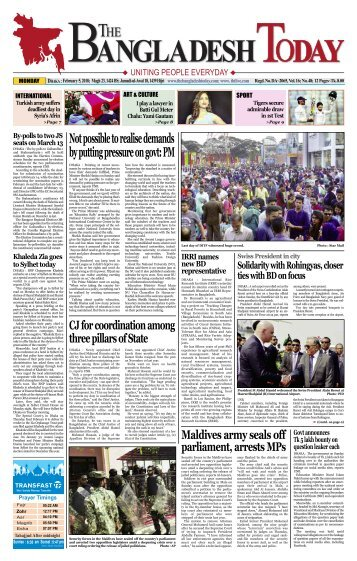 The Bangladesh Today (05-02-2018)