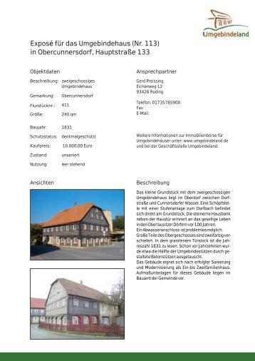 Expos für das Umgebindehaus (Nr. 113) in Obercunnersdorf ...