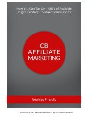 Click Bank Affiliate Marketing Guide Make Commissions on Thousands of Digital Products Available