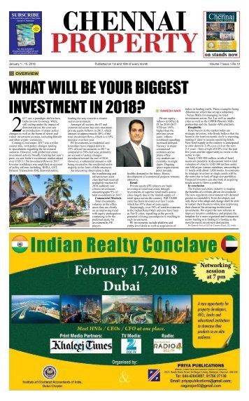 Chennai Property 1-15 January 2018