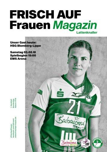 """Ausgabe 5 - Saison 2017/2018 - FRISCH AUF Frauen Magazin """"LATTENKNALLER"""""""