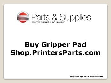 Gripper Pad - Shop.printersparts.com