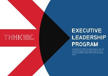 THNK Executive Leadership Program Brochure