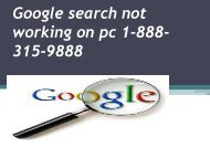 2 Google search not working on pc