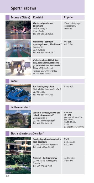 Sport i zabawa - Zittauer Gebirge