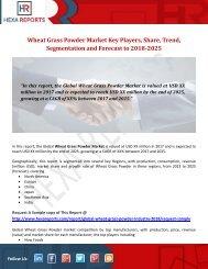 Wheat Grass Powder Market Key Players, Share, Trend, Segmentation and Forecast to 2018-2025