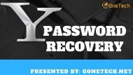 How To Easily Get Recover Your Yahoo Account Password- 2018   You Must Know About It!!!
