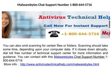 Malwarebytes Chat Support Number 1-800-644-5716