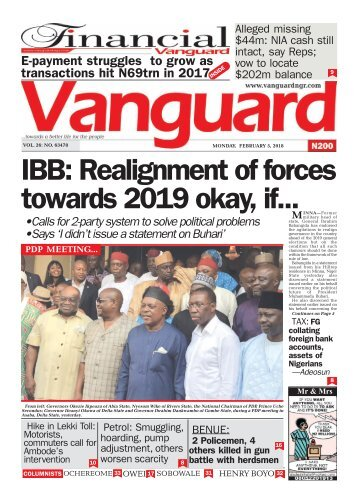 05022018 - IBB: Realignment of forces towards 2019 okay, if...