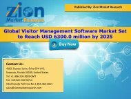 Global Visitor Management Software Market, 2016 – 2025