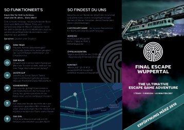 Final Escape Wuppertal - THE ULTIMATIVE ESCAPE GAME ADVENTURE