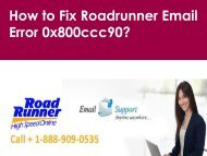 Roadrunner Email Error 0x800ccc90 Call 1-888-909-0535 Roadrunner Support Number