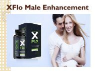 XFlo Male Enhancement - Increases Erection Size And Body Stamina