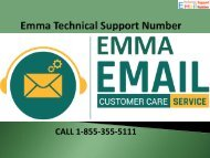 1-844-355-5111 Emma Support Number