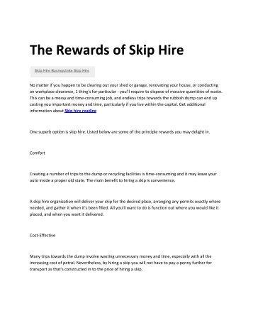 8 Skip hire Basingstoke