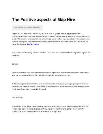 6 Skip hire Basingstoke