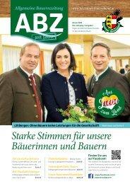 Allgemeine Bauernzeitung  - Ausgabe 01 - 2018 (Kärntner Bauernbund)
