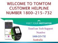 Get Call Tomtom GPS Support Number Australia 1800-215-732