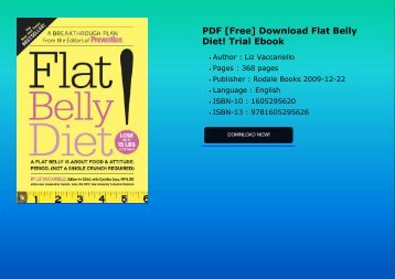 PDF [Free] Download  Flat Belly Diet! Trial Ebook